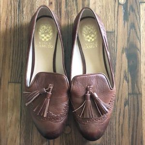 Vince Camuto Leather Tassel Flats- 7.5